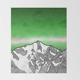 Hkakabo Razi Mountain Throw Blanket