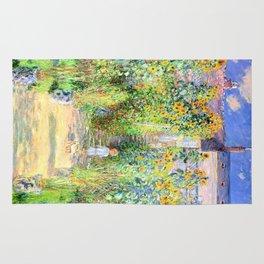 Monets Garden at Vetheuil Rug