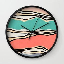 Modern irregular Stripes 10 Wall Clock