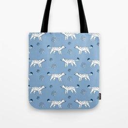 snow leopard pattern Tote Bag
