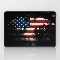 american flag iPad Cases featuring AMERICAN FLAG by Oksana Smith