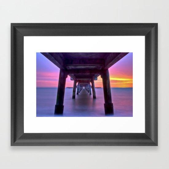Deal Pier at Sunrise Framed Art Print