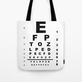 Eye Test Chart Tote Bag