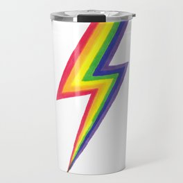 Rainbow Bolts Travel Mug