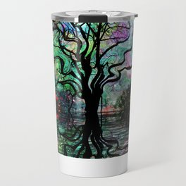 Van Goghs Aurora Borealis Reflection Travel Mug