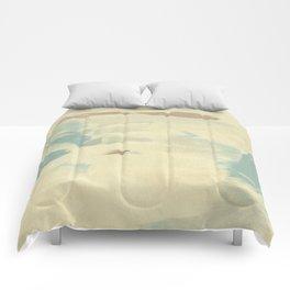 Blue & Cream Monoprint Comforters