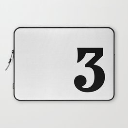 Prime number three / minimalist design / typography Laptop Sleeve
