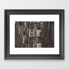 Old town Lamppost Framed Art Print
