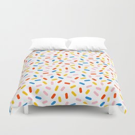 Livin' It - abstract pattern minimal modern primary colors pantone gender neutral retro throwback Duvet Cover
