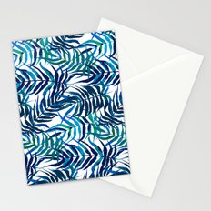 Watercolor floral pattern with palm leaves Stationery Cards