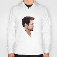 robert downey jr Hoodies featuring Robert Downey Jr Geometric Style by JamiePowellPrints