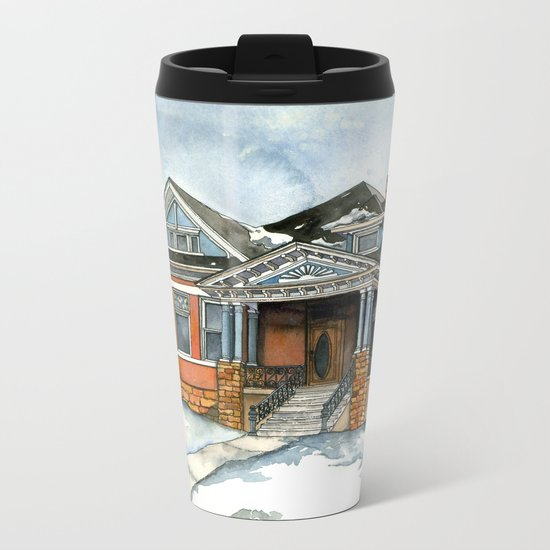 Vintage Winter Metal Travel Mug