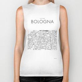 Bologna - City Map - Daniele Drigo Biker Tank