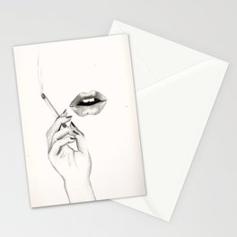 Cigarette Lips Stationery Cards
