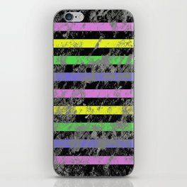 Linear Breakthrough - Abstract, geometric, textured artwork iPhone Skin