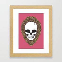 Skull Drawing Meditation Framed Art Print