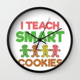 Teacher I Teach Smart Cookies Wall Clock