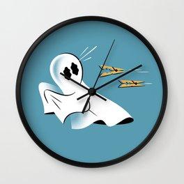 A Fearful Phantom (Teal) Wall Clock