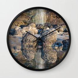 Tide Pool Reflections Wall Clock