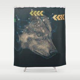 Urban wolf Shower Curtain