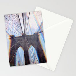 Brooklyn Bridge Abstract Stationery Cards