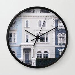 Pastel house Wall Clock