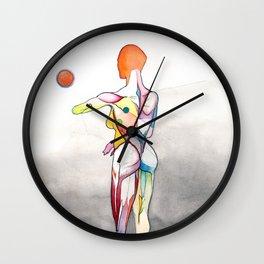 Anatomical Helen, nude female anatomy drawing, NYC Artist Wall Clock