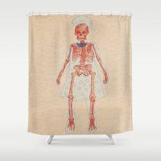 Bones. Questions series Shower Curtain