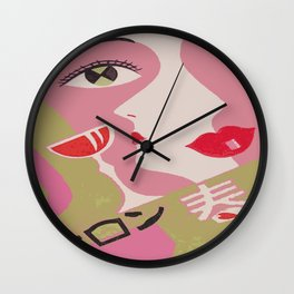 Japanese Abstract Vintage Matchbox Label Wall Clock