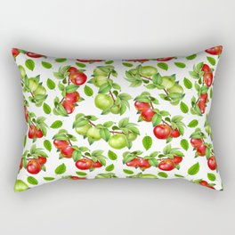 Apples on a Branch Rectangular Pillow
