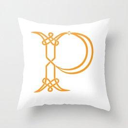 Celtic Knot Initial P Throw Pillow