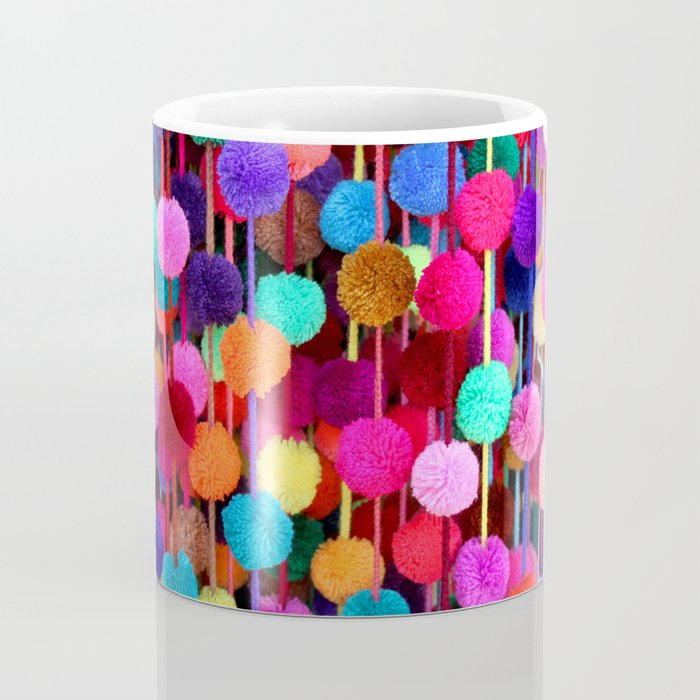 Rainbow Pom-poms (Horizontal) Coffee Mug