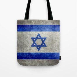 Flag of the State of Israel - Distressed worn patina Tote Bag