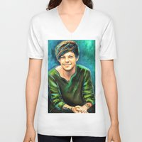 peter pan V-neck T-shirts featuring Peter Pan by art-changes