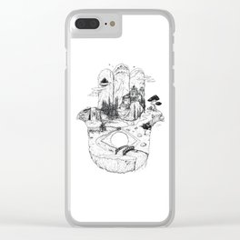 Hamsa in Nature Clear iPhone Case