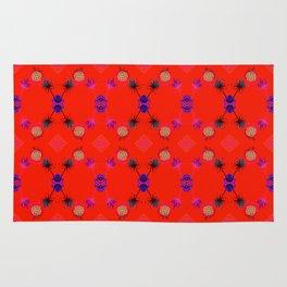 Fancy Argyle /Orange Rug