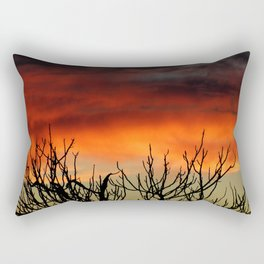 Burning branches Rectangular Pillow