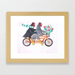 Bertha and Ebenezer Framed Art Print