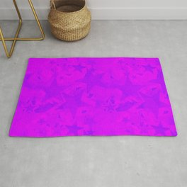 Calm intersecting blurred purple stars on a lilac background. Rug