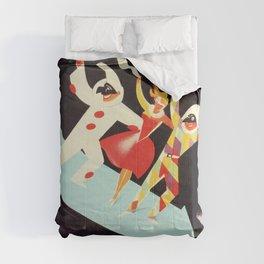 Vintage Viareggio carnival Italian travel ad  Comforters