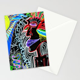 Vibrant Solitary Madness Stationery Cards