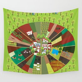 Agriculture produces oxygen Wall Tapestry