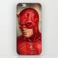 daredevil iPhone & iPod Skins featuring Daredevil by Vanessa Seixas