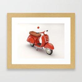 Vespa love Framed Art Print