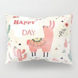 Hapy Lama Pillow Sham