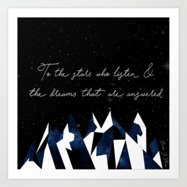 A Court of Mist and Fury Quote Art Print
