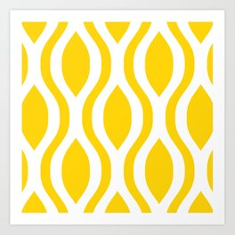 Pretty Ogee Pattern 431 Yellow Art Print