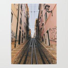 Lisbon Bica Funicular, Lisbon, Portugal Poster