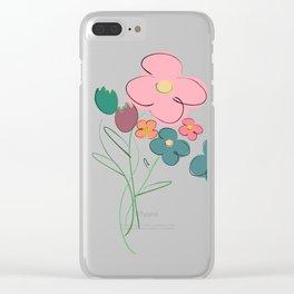 Pastel Bouquet Clear iPhone Case