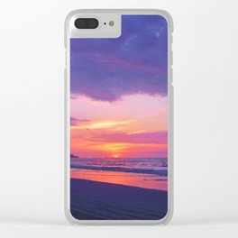 Broken sunset by #Bizzartino Clear iPhone Case